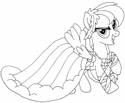 Printable cute rainbow dash my little pony coloring pages