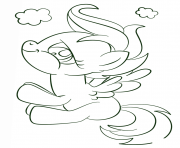 Printable scootaloo my little pony coloring pages