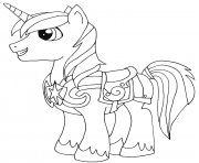 shining armor my little pony coloring pages