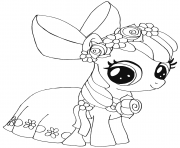 apple bloom my little pony coloring pages