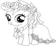 Printable baby scootaloo my little pony coloring pages