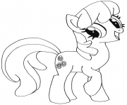 Printable cheerilee my little pony coloring pages