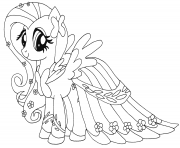 fluttershy my little pony coloring pages