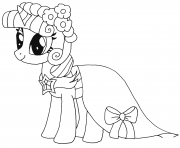 Printable princess twilight sparkle my little pony coloring pages