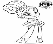 8 year old princess nella knight coloring pages