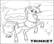 Magical Pet Unicorn Trinket for girls coloring pages