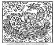 Print peacock adult hard advanced coloring pages