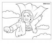 Hillary Clinton Super Woman coloring pages
