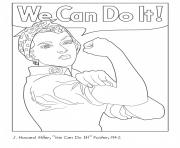 Rosie The Riveter coloring pages
