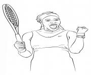venus serena williams coloring pages | Serena Williams Pages Coloring Pages