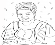 Coloring Page Maya Angelou. maya angelou coloring pages GIRL POWER Coloring Pages Free Printable
