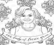 michelle obama coloring pages