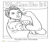 Rosie The Riveter We Can Do It coloring pages