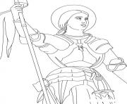 Joan of Arc coloring pages