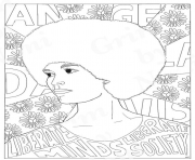 Angela Davis Power Girl coloring pages