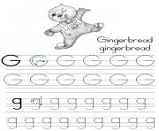 alphabet coloring tracers g traditional coloring pages