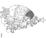 hedgies december coloring art by jan brett coloring pages