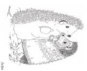 hedgies january coloring art by jan brett coloring pages