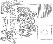 hedgie loves okinawa coloring page by jan brett