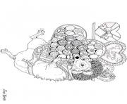 hedgies february coloring art by jan brett coloring pages