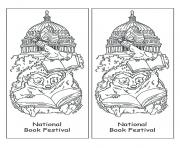 national book festival bookmark by jan brett coloring pages