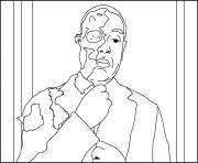 Print Two Face Gus Breaking Bad coloring pages