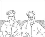 Printable jesse and walt breaking bad coloring pages
