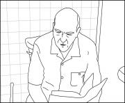 Printable Hank on a toilet Breaking Bad coloring pages