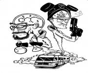 Print breaking bad by camikaze coloring pages
