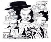 Printable breaking bad montage by stevenwilcox coloring pages