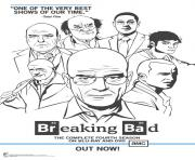 Printable breaking bad poster coloring pages