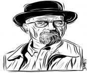 Print walter white breaking bad coloring pages