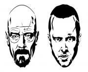 Print jesse and white from the breaking bad coloring pages