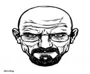 Print white breaking bad head coloring pages