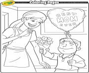 Printable Mothers Day Crayola coloring pages