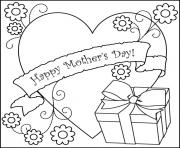Mothers Day Gifs Heart Coloring Sheets for Kids coloring pages