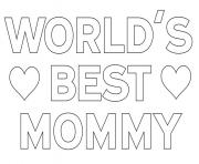 Printable worlds best mommy mom coloring pages