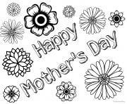 Printable Free Mothers Day Happy coloring pages