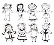 vietnamese traditional dress vietnam black and white coloring pages