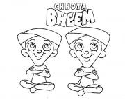 Print Chota Bheem Characters Dhole and Bhole coloring pages