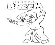 Print cartoon sketches of krishna chhota bheem coloring pages