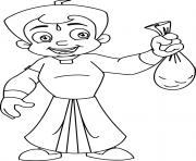 Printable Chhota Bheem Gold coloring pages