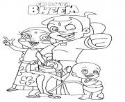 Print Chota Bheem for kids coloring pages