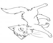 Printable Cute But Brave Warrior Cats A4 Coloring Pages