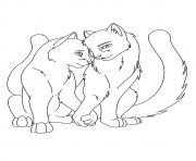 A Love Between Warrior Cats a4 coloring pages