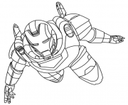 iron man 10 superheros coloring pages