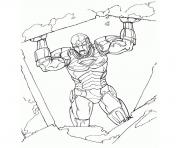 iron man en danger superheros coloring pages