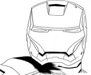 casque de iron man superheros coloring pages