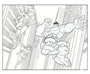 iron man avec hulk superheros coloring pages