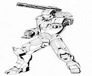 iron man 71 superheros coloring pages